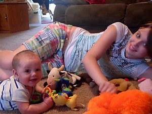 David And Katie Playing