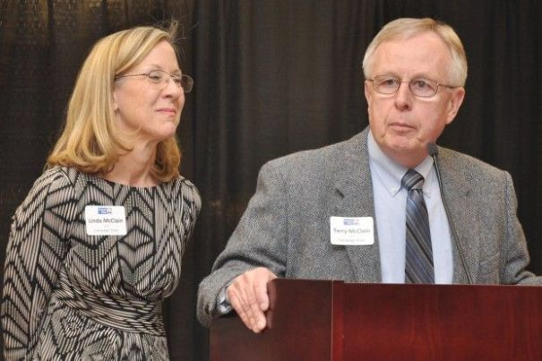 Linda and Terry McCain, honorary campaign chairs. Photo courtesy of the Fremont Tribune.