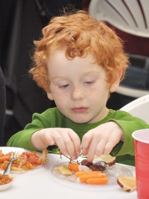 Child enjoying the event. Photo courtesy of the Fremont Tribune.