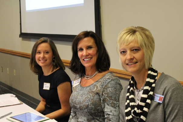 ELO Panelists Anna Wishart of Senator Kolowski's office, Molly O'Holleran of the State Board of Education, and Lisa Kaslon of UNL Extension.