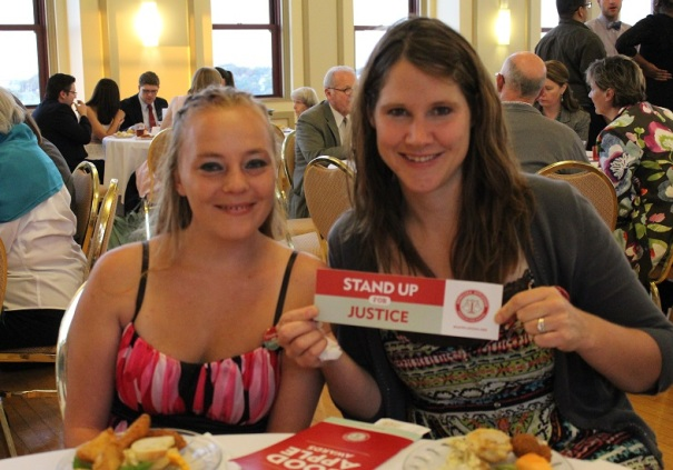 Kellie Mitchell of Norfolk with Alana Pearson, the Norfolk Council Youth Advisor