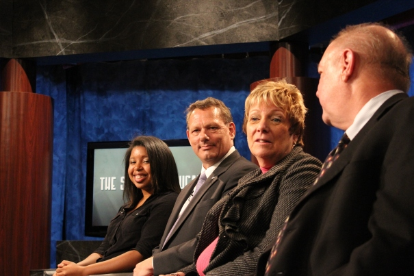 From left to right: Schalisha Walker, Thomas Pristow, Kim Hawekotte, Gary Stangler