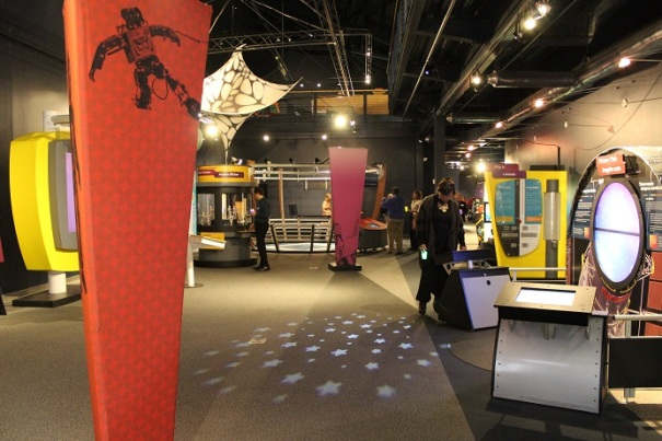 Wide view of the Math Alive! exhibit
