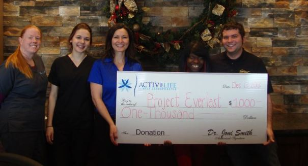 ActiveLife Family Chiropractic providing $1,000 to purchase gifts for Project Everlast Care Packages