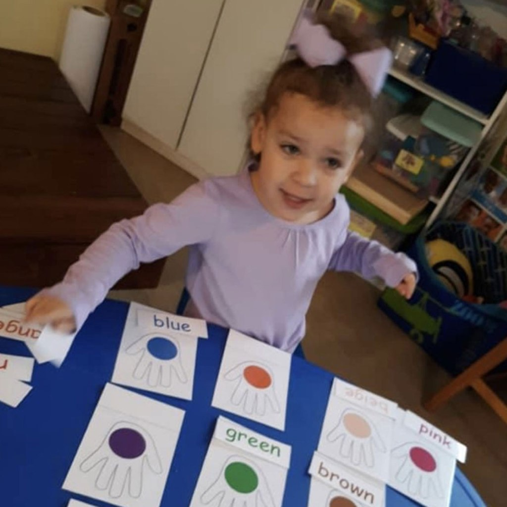 """Alyson eventually found an excellent childcare provider for her daughter, Eastyn (above). Alyson said, """"She'd never be where she is without a good provider."""""""