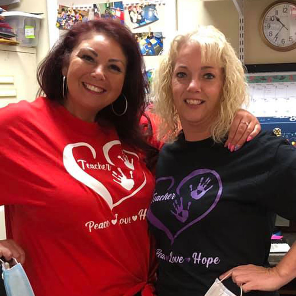 Here is Shannon (left) and one of her fellow teachers!