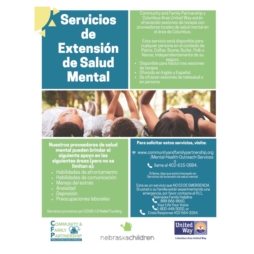 Spanish and English speaking counseling services are available.