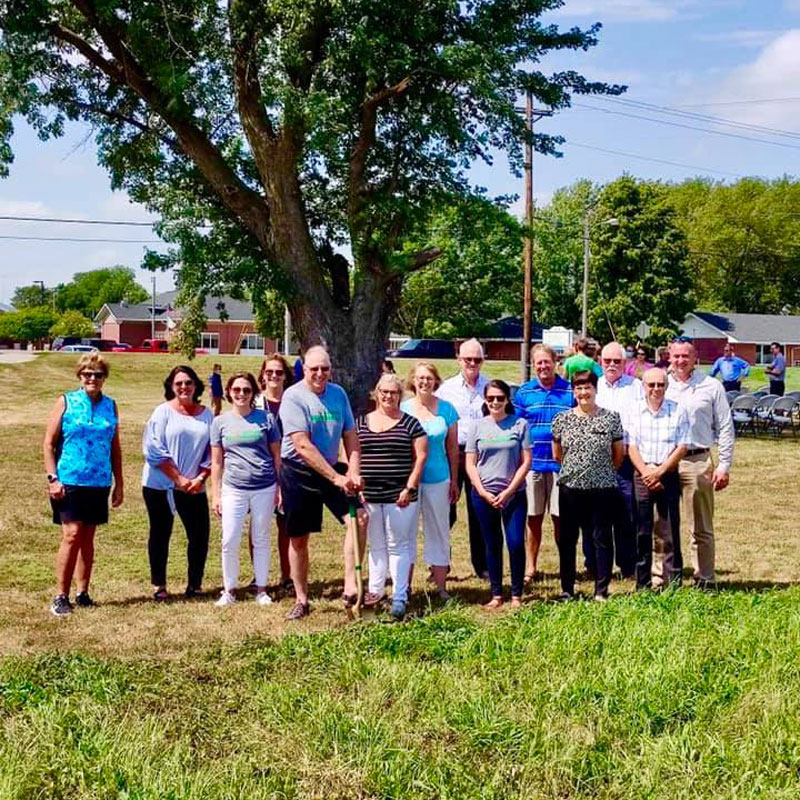 Five years and a lot of work later...Boone County community members stand together in anticipation of their NEW childcare beginnings!
