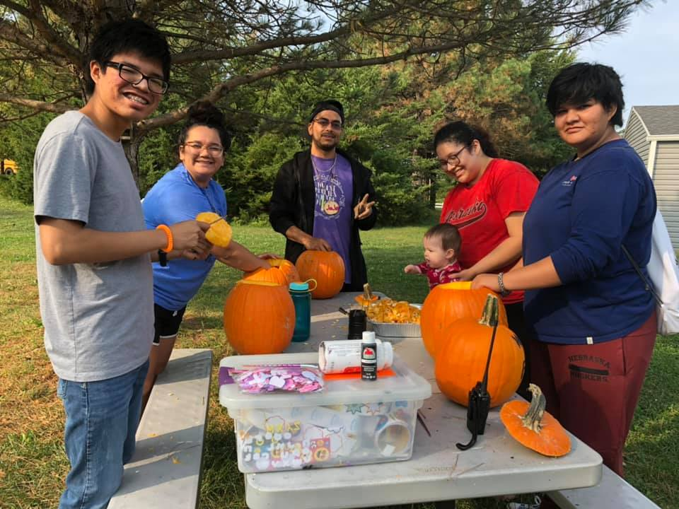The Salas family enjoys a surprise reunion, and carves pumpkins for the first time!