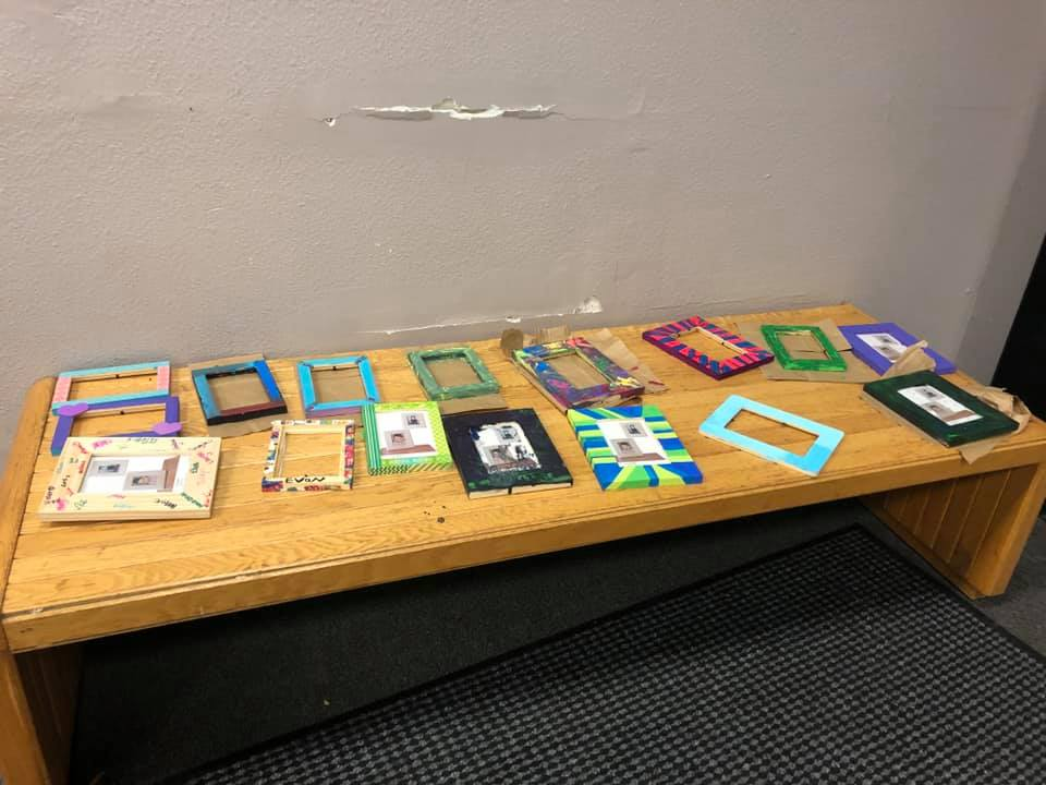 Campers left with memories. On their last day, they created picture frames so they could remember their time spent with siblings.