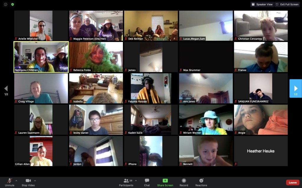 Camp Catch-Up Virtual Sibling Vibes, held over the summer via ZOOM, was a great success! Why stop now?