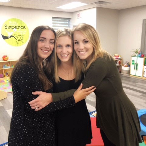 Fremont Sixpence THRIVES when they help others thrive. L to R: Kiersten Elsasser, Lauren Stoklasa, and Erin Dostal.