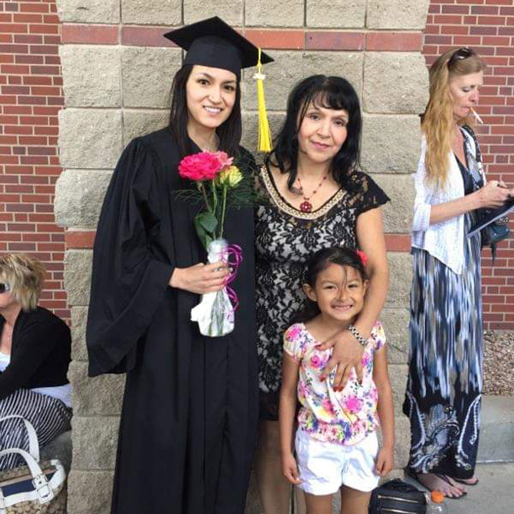 On to the next success! Yecenia graduated from UNK with a degree in Social Work, so she could give back.