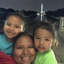 (l to r): Cethan with his mother, Taria, and sister, Willow, in Washington, D.C.