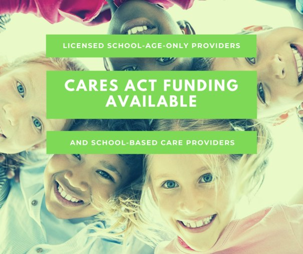 On October 1, Beyond School Bells (BSB), Nebraska Children and Families Foundation's dedicated network of afterschool professionals, opened a new web portal that will accept CARES Act applications from licensed school-age and school-based providers who have been impacted by the pandemic.