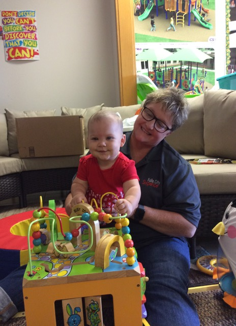 Home visitors like Susan (above) forge lasting, strong relationships with not only children, but the whole family.