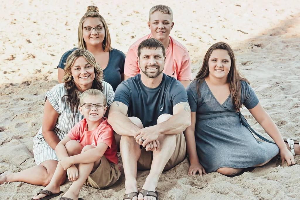 Kristine VanHoosen, the director of Stick Creek Kids, says she has a sense of the kind of special person whom she'd love to hire. Here she is (middle-left) with her family!