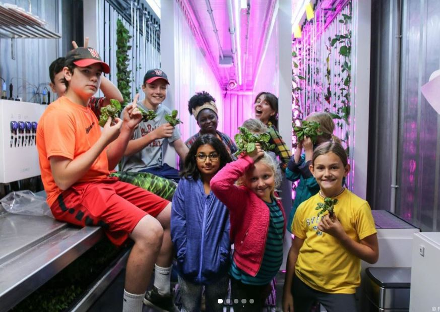 The Greenery grows the next generation of entrepreneurs! Thank you, Freight Farms, for providing us with photo permissions.