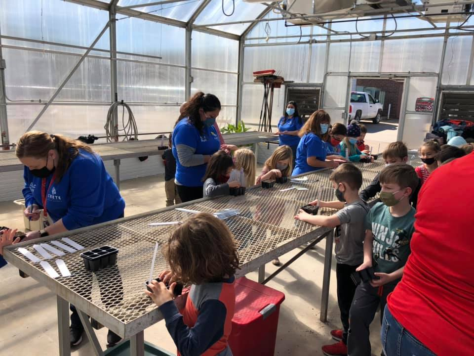 The greenhouse, prairie, and arboretum are ALREADY beginning to show signs of vitality and life, thanks to students' efforts.