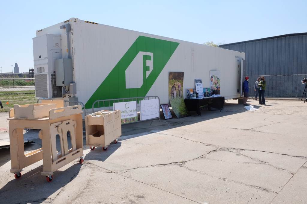 Look what rolled into The Bay last week: a high-tech hydroponic farm that will be run by young entreprenuers!