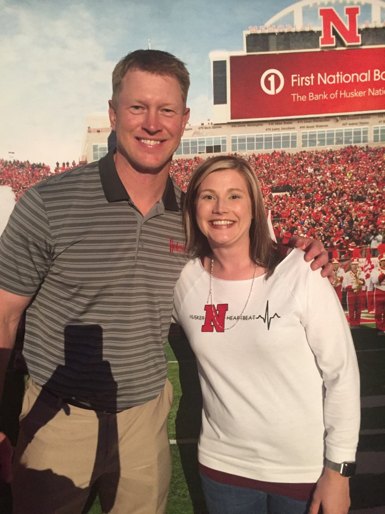 Even Coach Frost (left) showed up to support his hometown and early care at a local Wood River fundraiser!