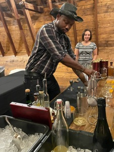Deion Bass (above) received the People's Choice Award for his signature Tequila Avion mixed drink!